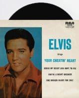 ELVIS PRESLEY Your Cheatin' Heart EP Vinyl Record 7 Inch Australian RCA Victor
